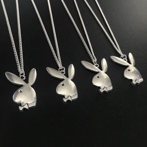 BRAND NEW Playboy stainless steel silver necklace
